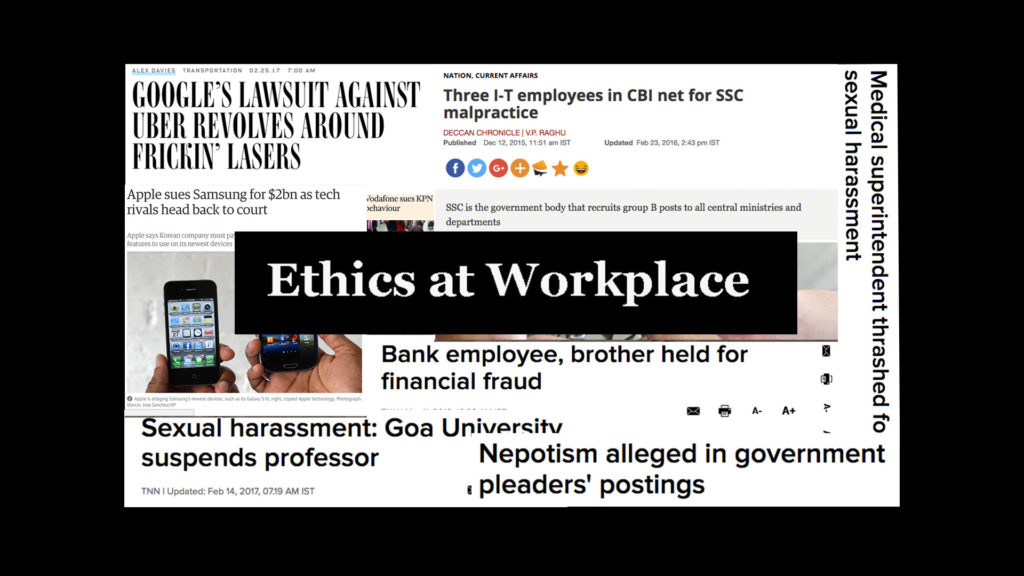 Ethics at Workplace – An OD Expert's Views
